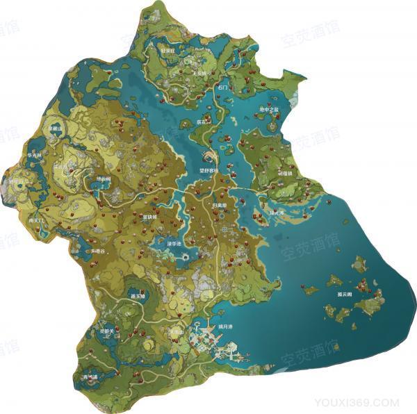 原神丘丘人大陆分布图一览