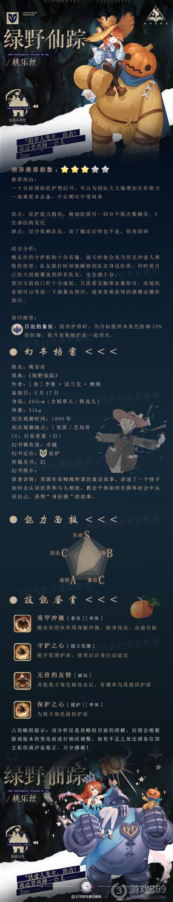 幻书启世录桃乐丝幻书档案