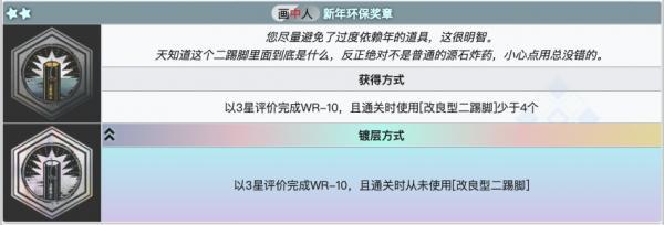明日方舟新年环保奖章镀层介绍