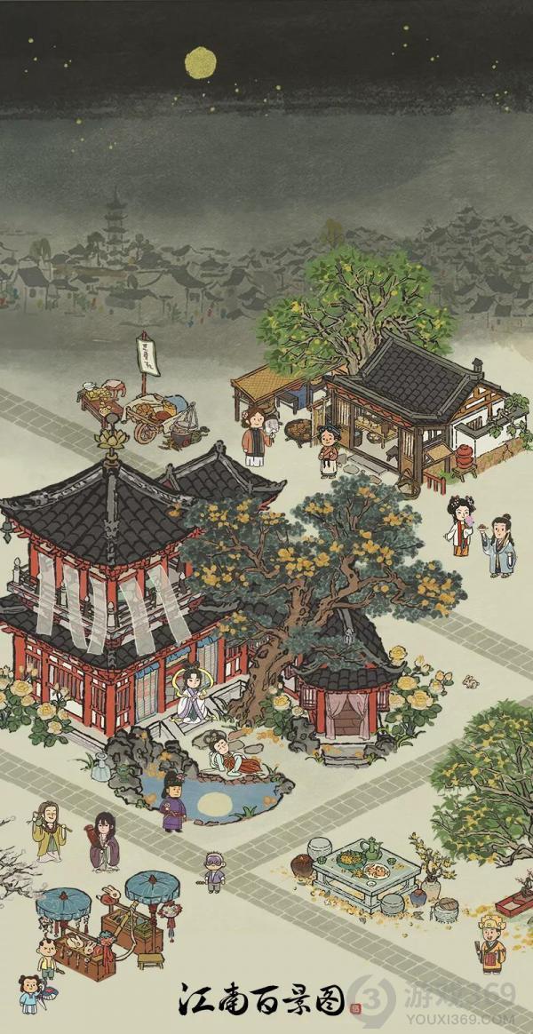 《江南百景图》中秋节系列建筑即将上线