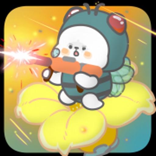 懒熊熊与兔蛮蛮:守护小蜜蜂
