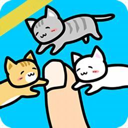 和猫咪一起玩游戏