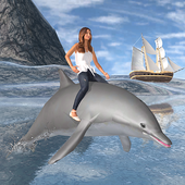 海豚运输乘客海滩出租车模拟器